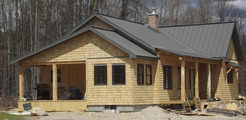 Lanark County cedar shingle siding project.